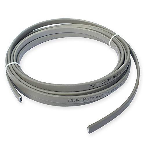 CALORIQUE Cable calefactor autorregulable MSLL 16 W/m para protección contra daños por heladas y mantenimiento de temperatura de las tuberías y contenedores, se vende por metros