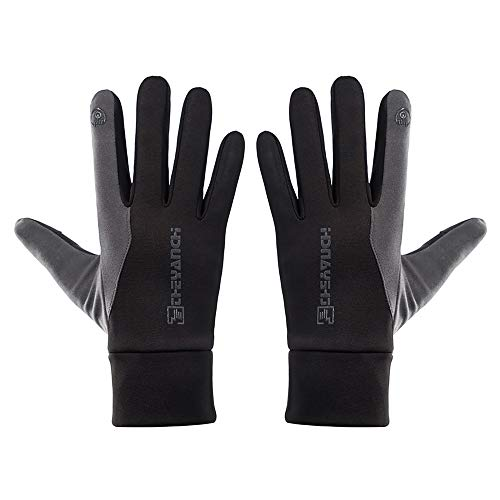 MEROURII Guantes de invierno para pantalla táctil, guantes de esquí, guantes de entrenamiento, climas fríos, cálidos, resistentes al viento para ciclismo, senderismo, conducción