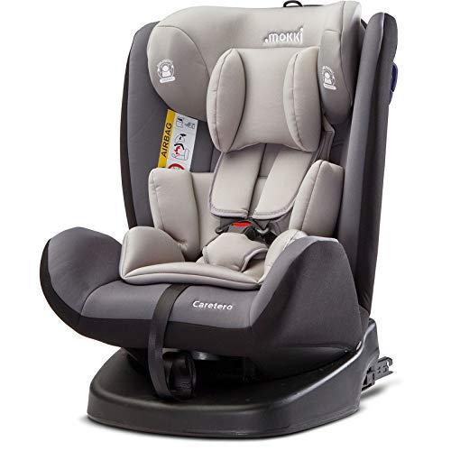 Caretero Mokki Isofix Drehbarer Auto Kindersitz 0-36 kg bis 150 cm Gruppe 0, 1, 2, 3 Graphite