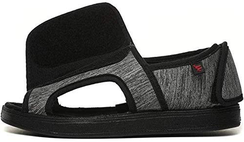 B/H Calzado OrtopéDico Ajustable para Artritis,Zapatos de Tela con Velcro Ajustable, Zapatos deformados con Pulgares-Gris_38,Edema Ancho Y CóModo Zapatos