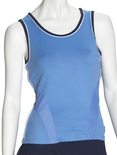 Fila Line 2010 Team-Camiseta sin Mangas para Mujer, Color Blanco Azul BLU - Bluebell Multicolore Talla:Medium