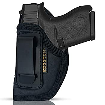 IWB ECO Leather Concealment Holster - Inside The Waist with Metal Clip   Lined Inside for Gun Protection   FITS Glock 43 & 42 SIG P365 KAHR PM 45 MAKAROV KEL-TEC PF9 / P11 Left CHP-58A-LH