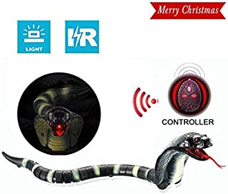 Unee1 Snake Toys for Kids, Infrared RC Remote Control Chargeable Lifelike Realistic Naja Cobra Toy with Retractable Tongue and Swinging Tail for Children Fun Entertainment Gifts