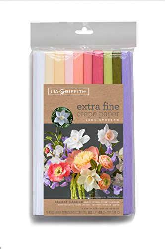 Lia Griffith PLG11028 Extra Fine Crepe Paper, 53.3 Total Square Feet, Secret Garden, 10 Count