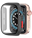 [2-Pack] Coque Noir avec Protection Ecran Verre Trempe pour Apple Watch Series 3 Serie 2 42mm iWatch...