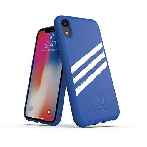 adidas Moulded Suede - Carcasa para Apple iPhone XR, Color Azul y Blanco