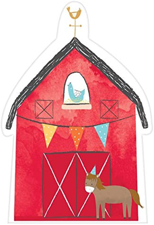 IdealWigsNet Barnyard-Geburtstags-Postkarten-Einladung mit Aufklebern B07P5PFZMT | Zu einem niedrigeren Preis