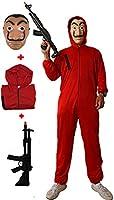 Gojoy shop- Disfraz, Máscara y Pistola de Casa de Papel Ladrón para Niños y Niñas Carnaval, Halloween (Contiene Máscara...