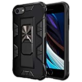 Compatible with iPhone SE 2020/8/7 Case,[ Military-Grade ] with Phone Grip and Expanding Stand|12ft. Drop Tested Protective Case | Kickstand | Compatible with Apple iPhone SE 2020(4.7inches) -Black