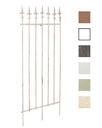 CLP Metall-Rankgitter Elisa I Größe: 100 x 50 cm, Stabstärke 0,7 cm I Rankhilfe für Kletterpflanzen I erhältlich Antik Creme