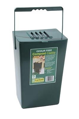 Bosmere K783 Kitchen Compost Caddy, medium, Green