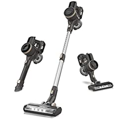 22000pa Suction for Deep Cleaning: The cordless vacuum provides continuous 22Kpa suction in MAX mode to complete a thorough cleaning, no matter on the hardwood floor, carpet floor, curtains, furniture, car. Two adjustable modes adapt to different sit...