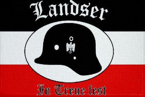 U24 Aufnäher Landser in Treue fest Fahne Flagge Aufbügler Patch 9 x 6 cm