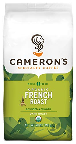 Cameron's Coffee Roasted Whole Bean Coffee, Organic French Roast, 28 Ounce