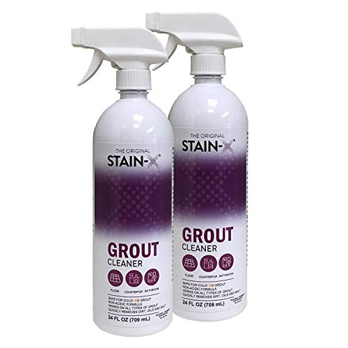 Stain-X Grout Cleaner 24 oz 2 pk - Ready To Use Grout Cleaner Spray for Tiles, Floors and Walls with No Harsh Chemicals