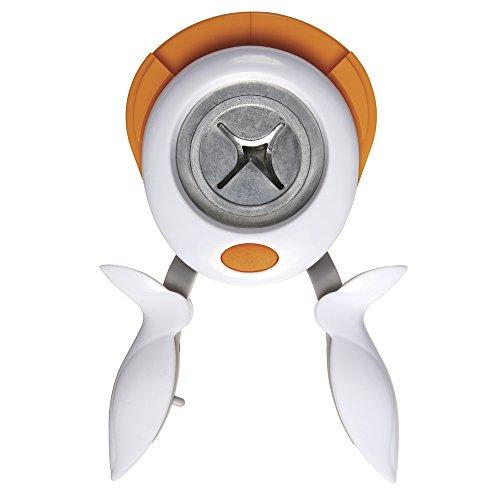 Fiskars Perforadora de esquinas 3 en 1, Radio, para diestros y zurdos, Acero de calidad/Plástico, Blanco/Naranja, 1004737