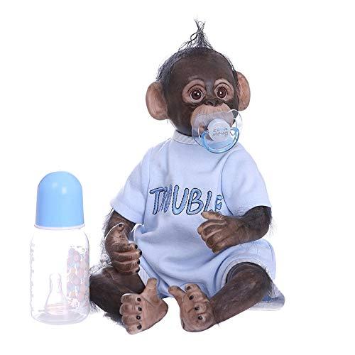 presentimer Monkey Baby Doll, handgemachte Innovative Simulation Stofftier Dekor, kreative Dekoration des Raumfensters