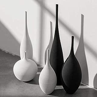 Flower set High-Temperature Ceramic Modern Minimalist Handmade Art Zen Vase Rustic Home Decor or As A Gift