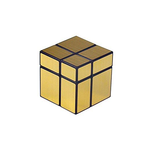 風の翼 - 2x2ミラーシールのキューブパズル、2x2x2スピードでキューブ、5.0 x 5.0 x 5.0 cmを競います (ゴールド)