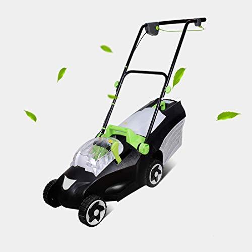 GJNVBDZSF Rasenmäher, 1300 Watt elektrischer Kreiselmäher, 32 cm Schnittbreite, 30 Liter Grasbox, 3 Schneidhöhenhebel, Doppelschalterschutz , Unkraut im Gartenbauernhof