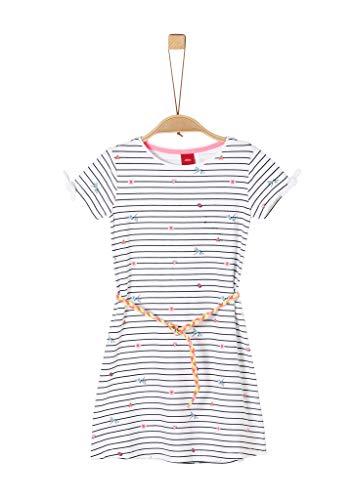s.Oliver Junior Mädchen Kleid Kinderkleid, 01A2 White AOP, 98/REG