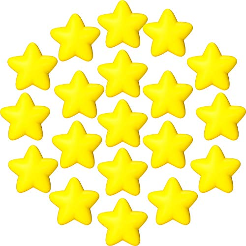 30 Pieces Star Stress Ball Star Stress Relief Toy Mini Foam Star Ball for School Carnival Reward, Student Prizes, Party Bag Gift Fillers (Yellow)
