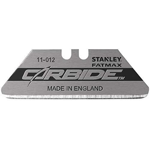 Preisvergleich Produktbild Stanley FMHT11012-8 FatMax Carbide Trapezklinge Pro (gerundet Spitzen,  langlebige Wolframkarbid beschichtete Hartmetalllegierung,  bruchfest,  passend für die meisten Standardmesser,  50 Stück)