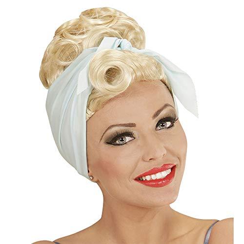 Widmann 01851 ? Perruque pin up Girl Blond Rockabilly avec Bandeau Cheveux Bleu Clair
