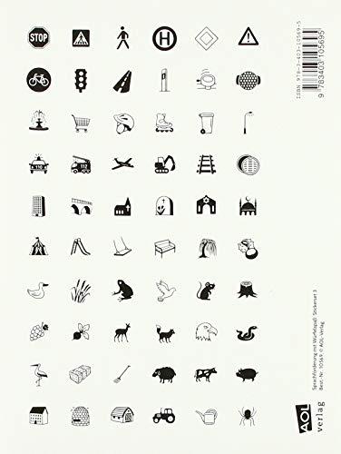 Sprachförderung mit Würfelspaß: Stickerset 3: 300 Sticker zum Thema