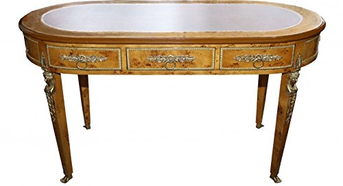 Casa Padrino Barock Empire Schreibtisch Sekretär mit 3 Schubladen 150 cm - Handgefertigt aus Massivholz - Barock Schreibtisch Büro Möbel