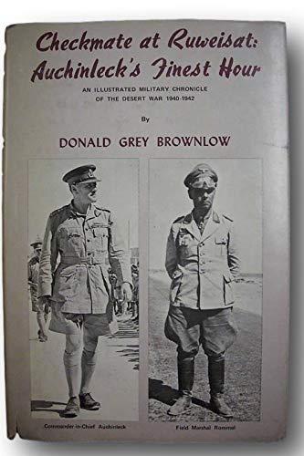 Rare Signed CHECKMATE AT RUWEISAT Erwin Rommel WWII Afrika Korps*Desert Warfare