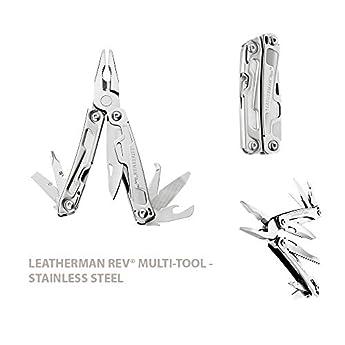 Foto di Leatherman Multi-Tools Large REV Utensile multiuso, richiudibile, 13 attrezzi in uno, in confezione Box
