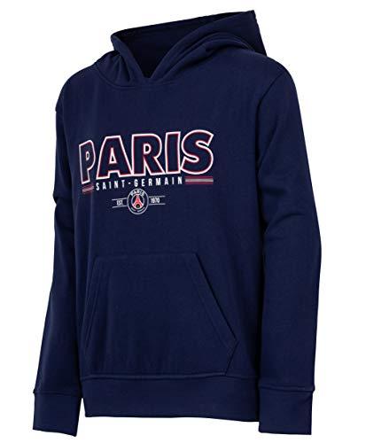 Paris Saint-Germain: sudadera PSG, colección oficial del club de fútbol Paris Saint-Germain, talla infantil, Niño, azul, 8 años
