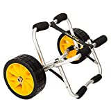 Bonnlo Kayak Dolly Jon Boat Canoe Trolley Cart Trailer Tote Transport Carrier with Solid Tires Wheel