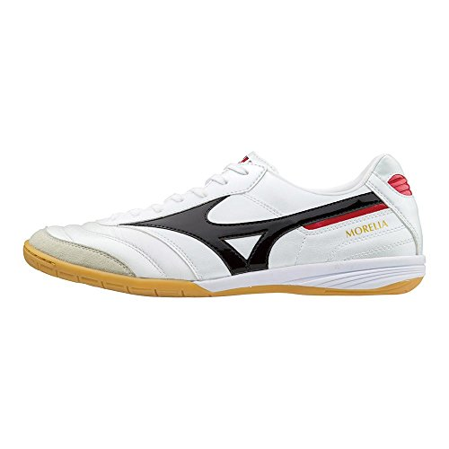 Mizuno Morelia F09 - Zapatillas de deporte para interior (interior), color blanco, negro y rojo, color, talla 44.5 EU