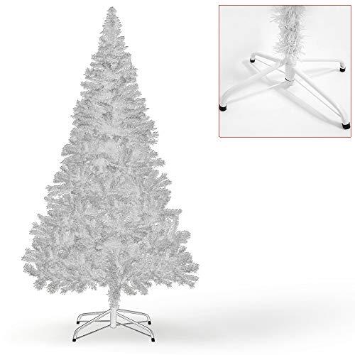 Deuba® Albero di Natale Artificiale con Supporto | 150 cm | 310 Punte | Bianco | folto