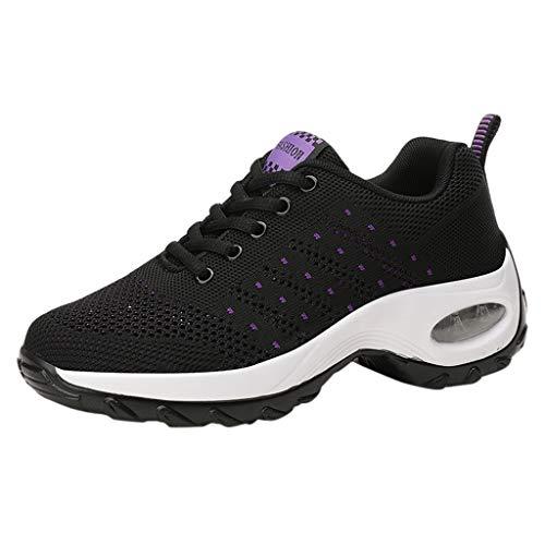 Zapatillas de Deporte Mujer Deportivo Zapatos para Correr Hombre Runing Sports Trainers Gimnasio Air Cushion Negro Azul Rosa 35-42 EU 0204