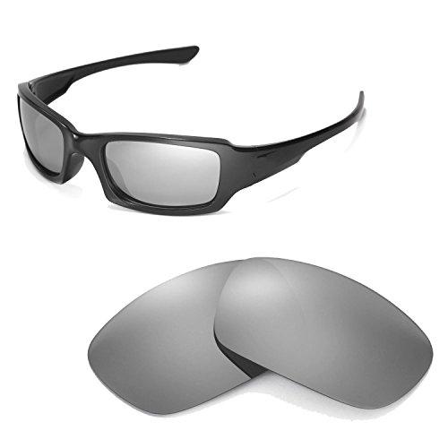 Walleva Ersatzgläser für Oakley Fives Squared Sonnenbrille - 12 Optionen (Titan)