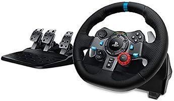 Logitech G29 Driving Force Volant de Course avec Pédales, Retour de Force Réaliste, Palettes Volant en Acier Inoxydable,...