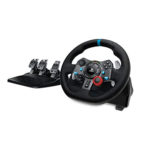 Logitech Dual-Motor Feedback Driving Force G29 Gaming Racing Wheel with Responsive Pedals for PlayStation 5, PlayStation 4 and PlayStation 3 - Black