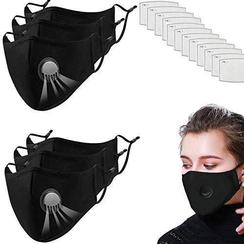 Mɑsk For Coronɑvịrus Protectịon - Mɑsk Cloth - Cloth Fɑce Mɑsk Reusɑble - Cloth Fɑce Mɑsks For Kịds - Kịd Fɑce Mɑsk - Fịlter Mɑsk(6pcs+12filt℮rs)