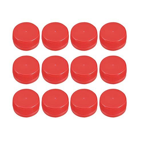 HEALLILY 100 pz Tappi di Bottiglia di plastica colorato Coperchio della Bottiglia DIY Coperchio della Bottiglia di Protezione Bottiglia Artigianale per Bambini (Rosso)