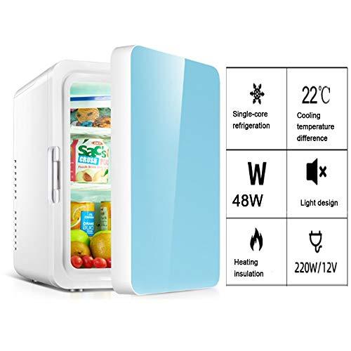WZCGYLY 10L Mini Kühlschrank Sei Ruhig Freistehend Tragen Leiser Betrieb Temperaturregler Warme Und Kalte Funktion Getränkekühlschrank for Zuhause Und Auto (Color : Blue)