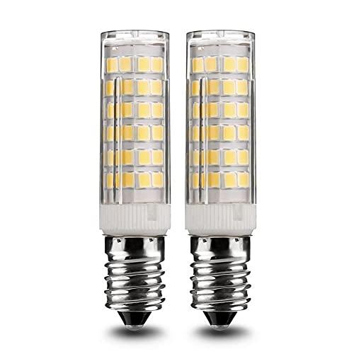GHC LED Bombillas 2pack LED LED Bombillas Tornillo Incandescente E14 5W Lámpara 500lm Cálido Frío Frigorífico Frigorífico Araña Ficha de ángulo de Haz de 360 Grados