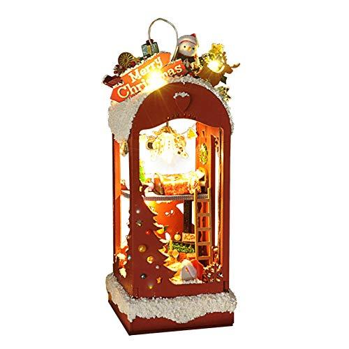 Feichanghao - Hucha de nieve y hielo para Navidad, creativa a mano, modelo de regalo para colgar cumpleaños (caja de color)