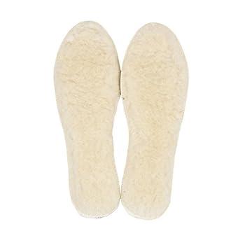 LAMBAA Sheep Wool Fleece Insoles White 9 Women/7 Men