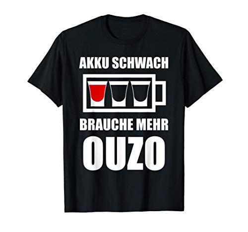 Ouzo Griechenland Grieche Schnaps Geschenk T-Shirt