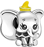 LaMenars Disney Mickey Mouse Robotharm for Pandora Bracelet 925 Sterling Silver Love Bead Charms with Cubic Birthday Anniversary Jewelry Gifts for Women Girls Mom Wife