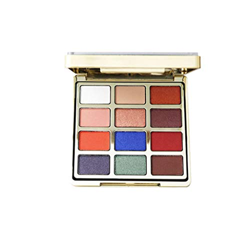 Momola Ombre à paupières Quicksand,LUWHICEY Shimmer Cosmetic Matte Eyeshadow Cream Makeup Palette Set 12 Colors Eyeshadow (Bleu)