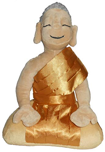 Buddha Garden 10' Meditating Peace Plush Doll Toy Tibet Gold